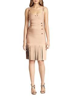 Herve Leger - Buckle-Detail Bandage Dress