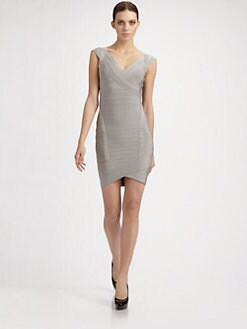 Herve Leger - Cap-Sleeve Bandage Dress