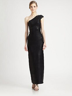 Herve Leger - Asymmetrical Bandage Gown