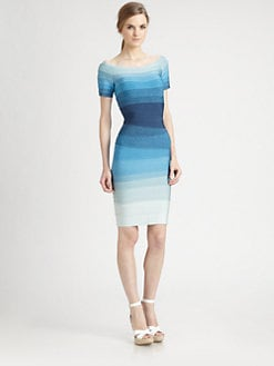 Herve Leger - Ombr&eacute; Bandage Dress