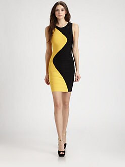 Herve Leger - Zig-Zag Bandage Dress