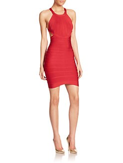 Herve Leger - Cross-Strap Bandage Dress