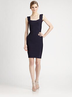 Herve Leger - Square Neck Bandage Dress