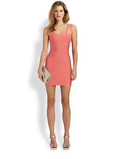 Herve Leger - Strappy Bandage Dress