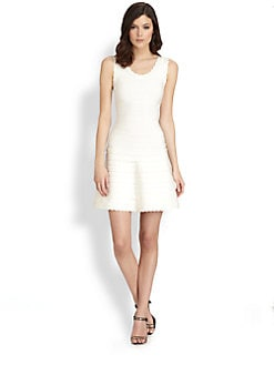 Herve Leger - Scalloped Bandage Dress