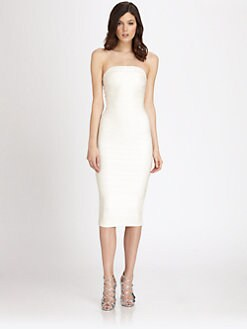 Herve Leger - Strapless Bandage Dress