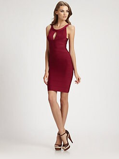 Herve Leger - Keyhole Bandage Dress