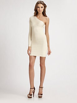 Herve Leger - Asymmetrical Bandage Dress