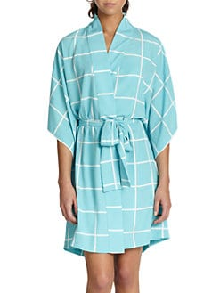 Natori - Windowpane Short Robe