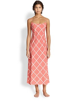 Natori - Windowpane Long Gown