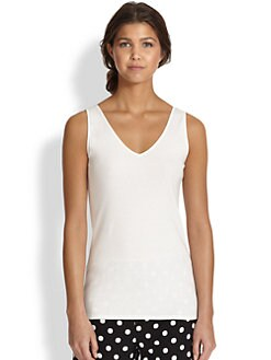 Natori - Solid Cotton Tank Top