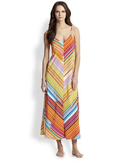 Natori - Loren Striped Sleep Gown