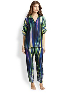 Natori - Haworth Printed Satin Pajama Set