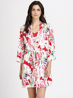 Josie - Island Flower Short Robe
