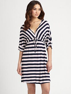 Josie - Indo Stripe V-Neck Tunic
