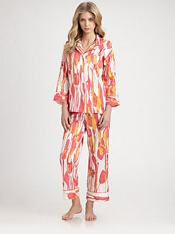 Natori - Saya Graphic-Print Cotton Pajama Set