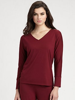 Natori - V-Neck Jersey Knit