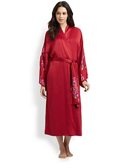 Natori - Kubilai Embroidered Satin Robe