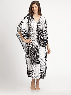 Natori - Dara Animal-Print Caftan
