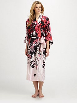 Natori - Satin Print Robe