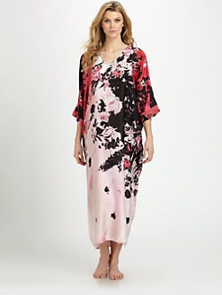 Natori - Satin Print Caftan