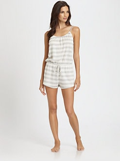 Josie - Mishell Striped Short Jumpsuit