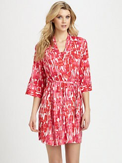 Josie - Jersey Print Wrap Robe
