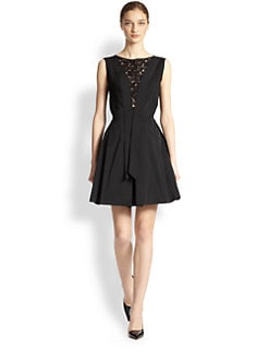 Nina Ricci - Lace-Inset Short Dress