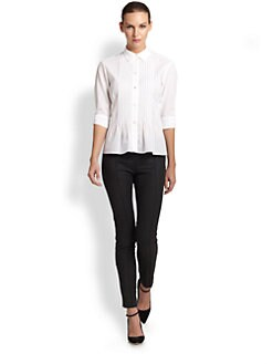 Nina Ricci - Pleated-Front Cotton Shirt