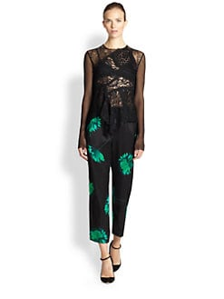 Nina Ricci - Patchwork Lace Sheer Top
