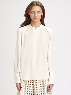 Chloe - Silk Scallop Blouse