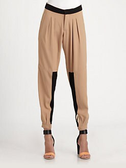 Chloe - Bi-Color Crepe Pants