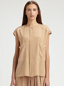 Chloe - Silk Crepe De Chine Top