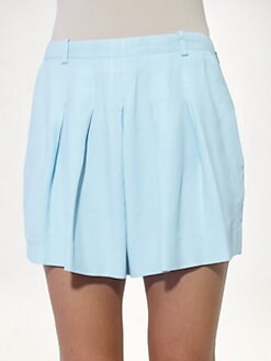 Chloe - Pleated Cady Shorts