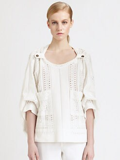 Chloe - Eyelet Lace Top