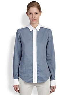 Chloe - Combo Chambray Blouse