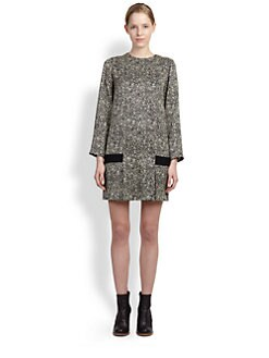 Chloe - Printed Tweed Dress