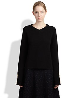 Chloe - Rib-Knit Zipper Sweater