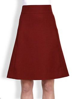 Chloe - Wool A-Line Skirt