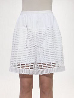 Chloe - Birdcage Macram&eacute; Shorts