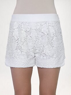Chloe - Floral Lace Shorts