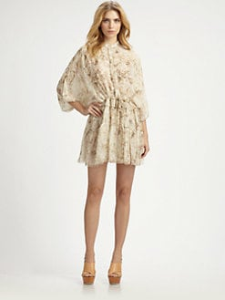 Chloe - Silk Floral Dress