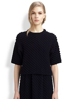 Chloe - Wool Popcorn Knit Sweater