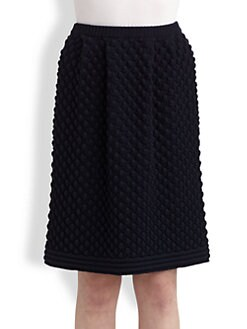 Chloe - Wool Popcorn Knit Skirt