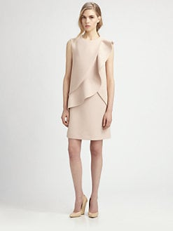 Chloe - Crepe Ruffle Dress