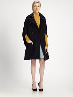 Chloe - Wool Cape Coat