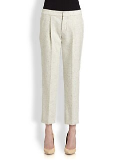 Chloe - Cropped Flannel Pants