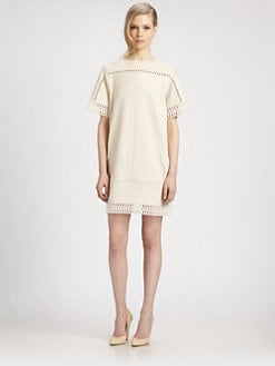 Chloe - Wool Popcorn Lace Dress