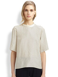 Chloe - Silk Polka Dot Blouse