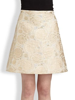 Chloe - Metallic Jacquard Skirt